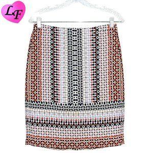 J.CREW Pencil Skirt Geometric Pattern Size 2